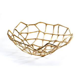 Bone Bowl Extra Large Brass by Tom Dixon